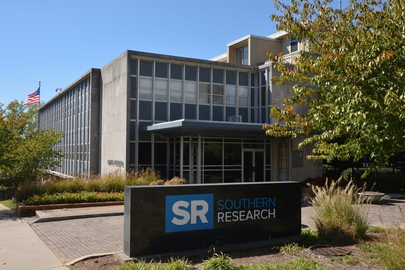 Southern Research Institute building and sign