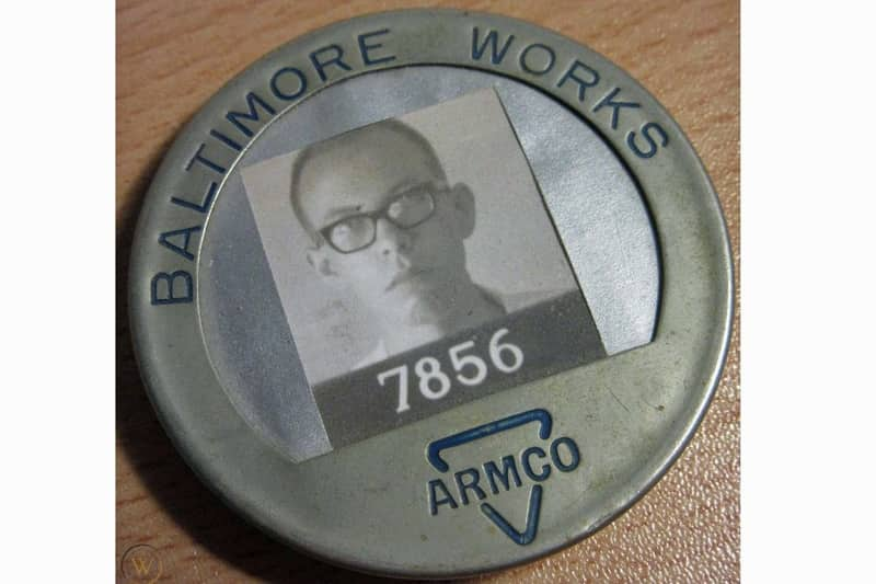 Badge from Armco-Rustless Iron and Steel