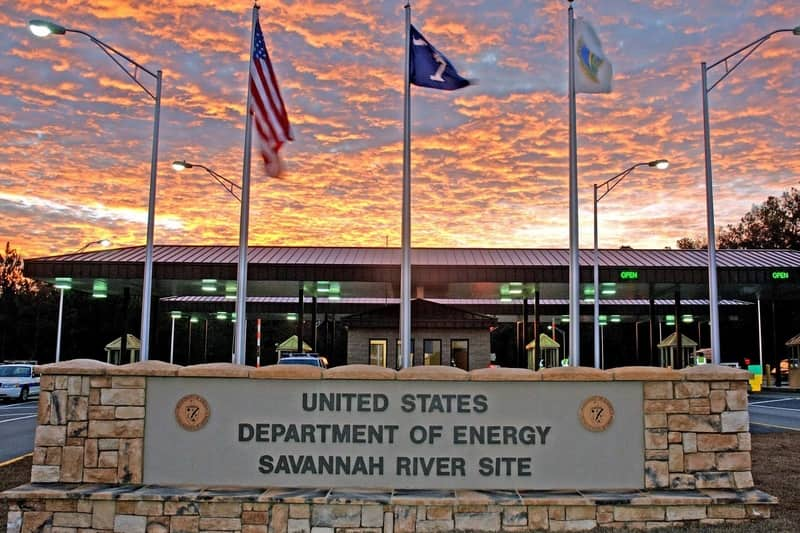 Savannah River Site sign